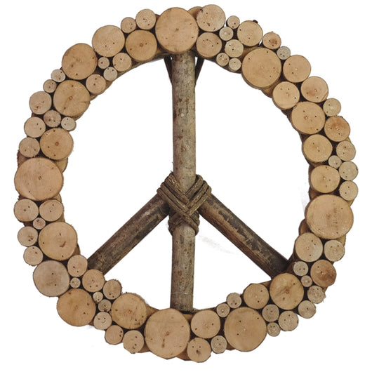 Galtang Vine and Wood Layered Peace Wreath