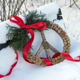 Galtang Vine and Wood Layered Peace Wreath lifestyle