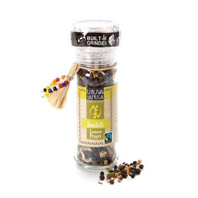 Swahili Lemon Pepper Seasoning with Built-in Grinder