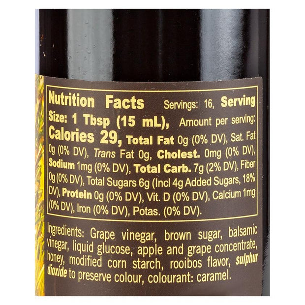 Rooibos & Honey Balsamic Vinegar Reduction 8.5 fl oz Nutrition Facts