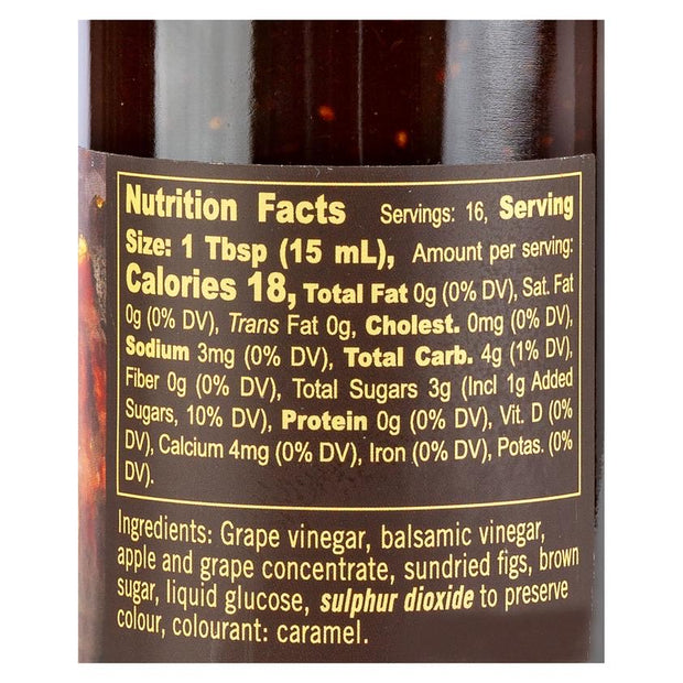 Sundried Fig Balsamic Vinegar Reduction 8.5 fl oz Nutrition Facts