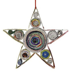 Recycled Colorwrap Paper Star Ornament