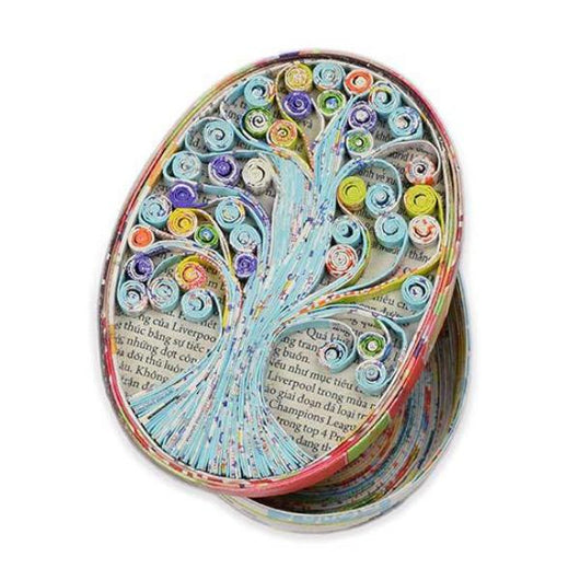 Recycled Colorwrap Tree of Life Box