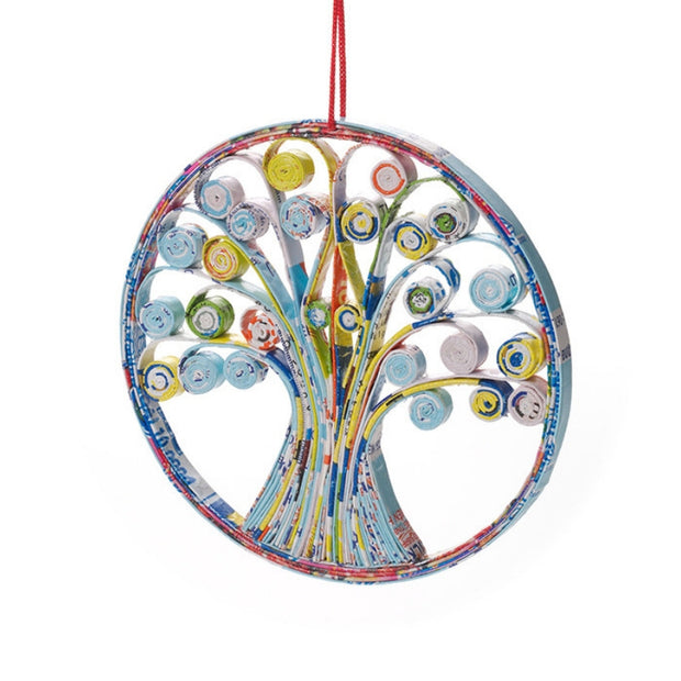 Recycled Paper Quilled Tree of Life Ornament
