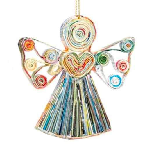 Recycled Paper Angel Ornament