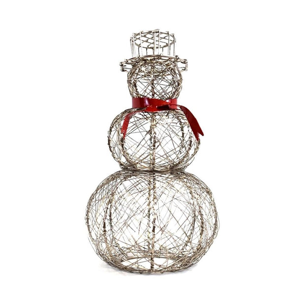 Wrapped Wire Snowman