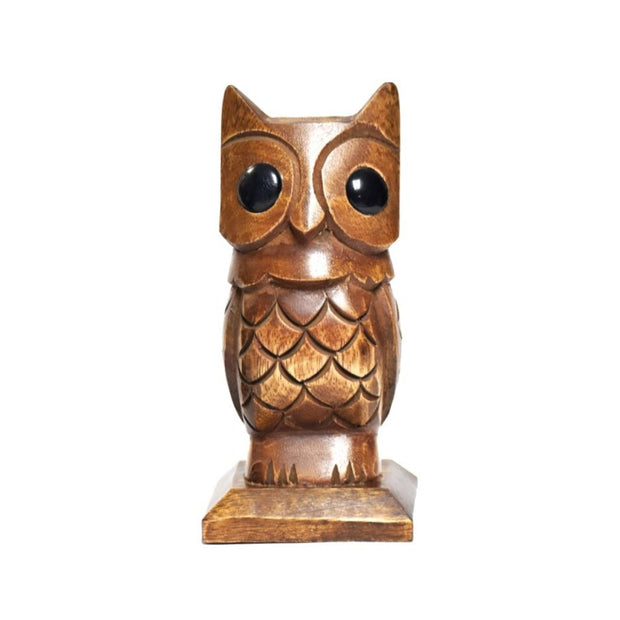 Hand-carved Owl Eyeglasses Holder