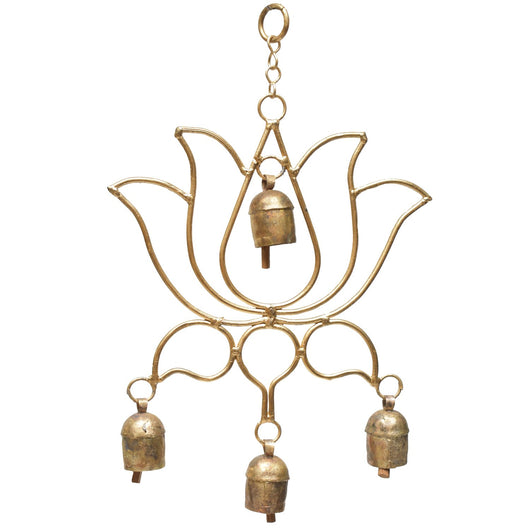 Blooming Lotus Upcycled Metal Bell Chime