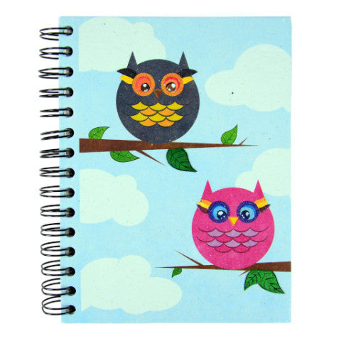 Mr. Ellie Pooh Owls Large Notebook Journal