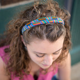 Guatemalan Fabric Criss Cross Hard Headband on model