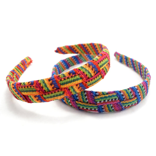 Guatemalan Fabric Criss Cross Hard Headband