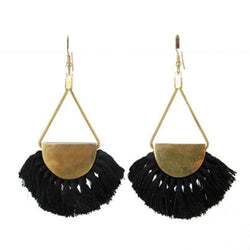 Fanned Fringe Tassel Earrings