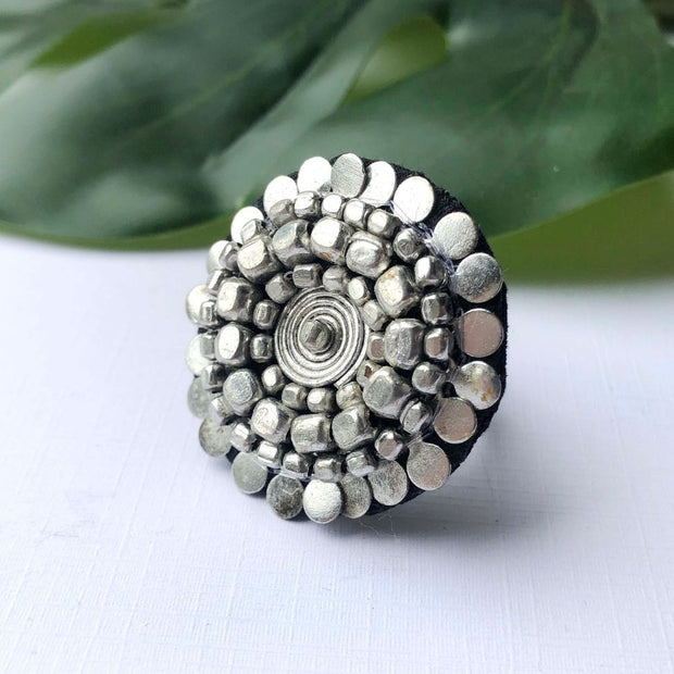 Gilded Sphere Adjustable Ring lifestyle