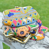 Kutch Embroidered Kisslock Wallet