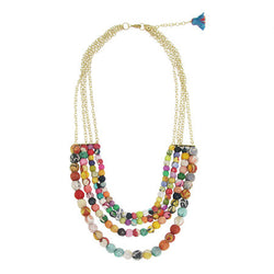 Kantha Bead Four-Tier Necklace