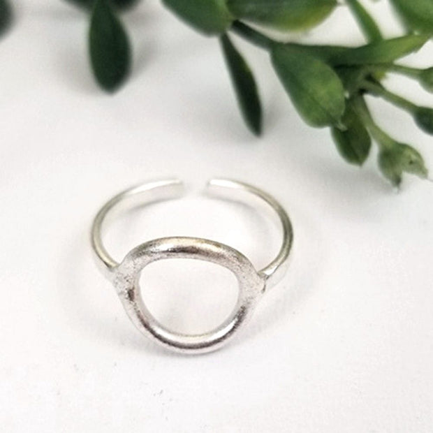 Petite Circle Adjustable Ring