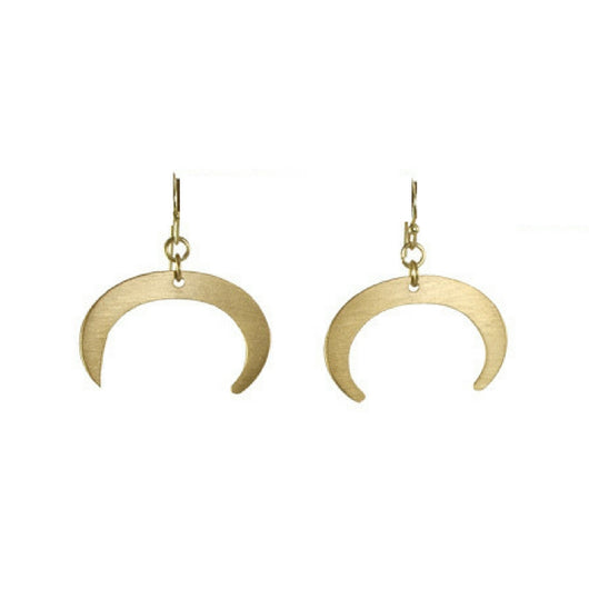 Goldtone Crescent Earrings