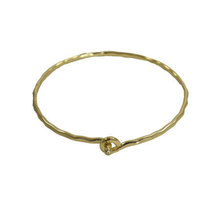 Interlocking Ripple Goldtone Bracelet