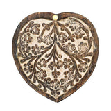 Heart Shaped Antique Finish Pivot Box top view