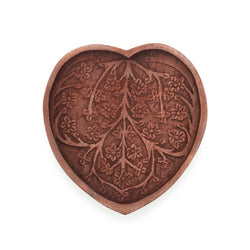 Indian Rosewood Hand-carved Heart Tray