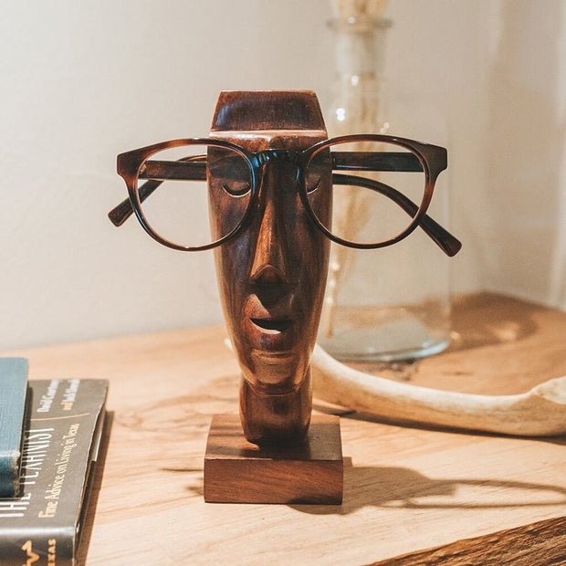 Rapa Nui Solid Wood Eyeglass Holder lifestyle