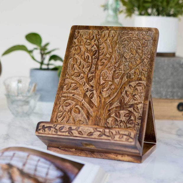 Aranyani Tree of Life Tablet or Recipe Book Stand lifestyle