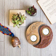 Two-piece Yin Yang Tea Light Holder lifestyle