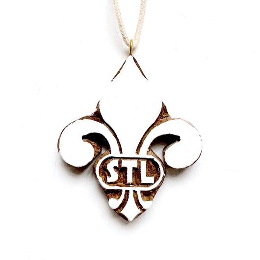 EXCLUSIVE Wood STL Fleur de Lis Ornament
