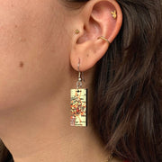 EXCLUSIVE St. Louis Vintage Map Dangle Earrings on model