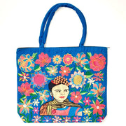 Frida Kahlo Embroidered Tote Bag - Pick Your Favorite