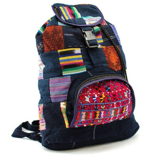 Upcycled Vintage Textiles Patch Backpack
