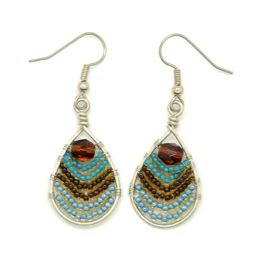 Fair Trade Beaded Teardrop Wire Earrings by Dunitz and Co.