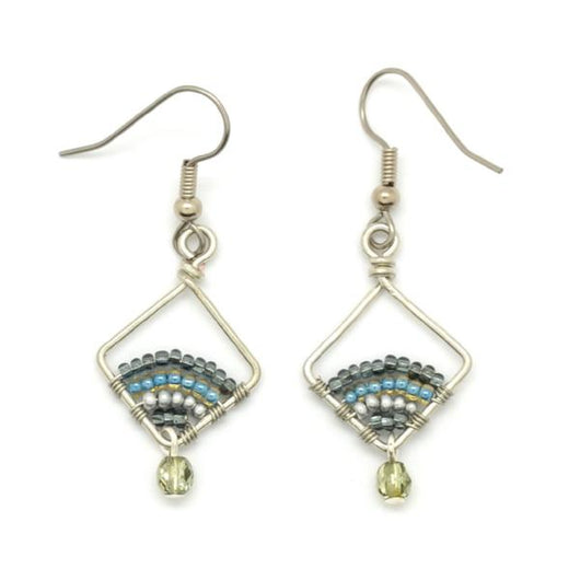Fair Trade Beaded Petite Diamond Wire Earrings by Dunitz and Co.