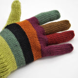Alpaca and Acrylic Blend Striped Gloves