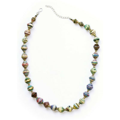 Fair Trade and Handmade Amani Recycled Paper Necklace