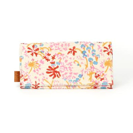 Anu Cotton Wallet with Japanese Garden print exterior