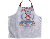 Fair Trade Printed Batik Fabric Reversible Apron-Red Roses