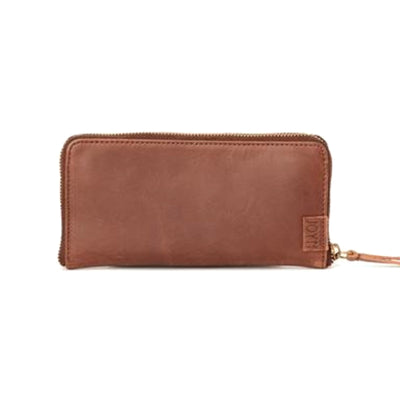 Arya Brown Leather Wallet exterior view