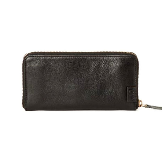 Arya Black Leather Wallet exterior