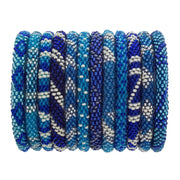Aid Through Trade Glass bead Roll-On Bracelet-BORA BORA