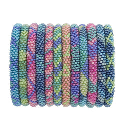 Aid Through Trade Glass bead Roll-On Bracelet-COPACABANA