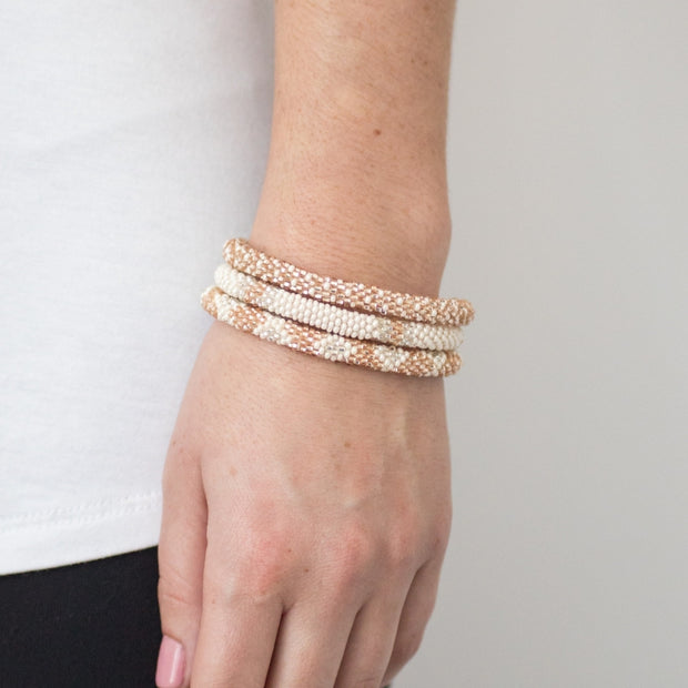 Aid Through Trade Glass bead Roll-On Bracelet-lifestyle