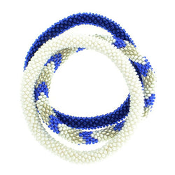 Team Spirit Roll-On® Bracelets Set of three - Blue & White
