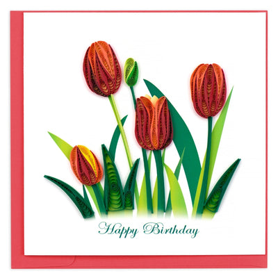 Birthday Tulips Quilling Card