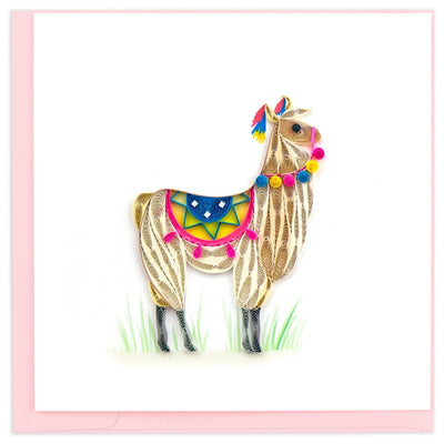 Colorful Llama Quilling All Occasion Card