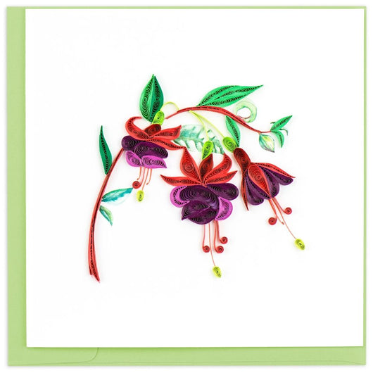 Fuchsia Quilling Card