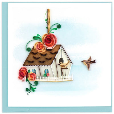 Quilled Birdhouse Greeting Card