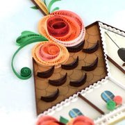 Quilled Birdhouse Greeting Card detail