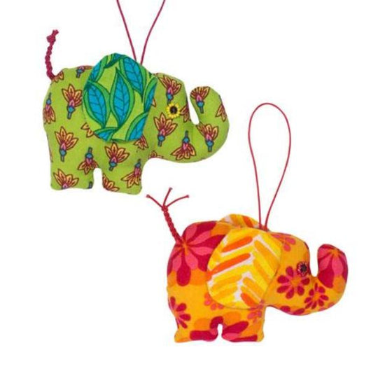 Plush Elephant Ornament - Assorted