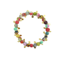 Charm Kantha Bead Bracelet in Assorted colors